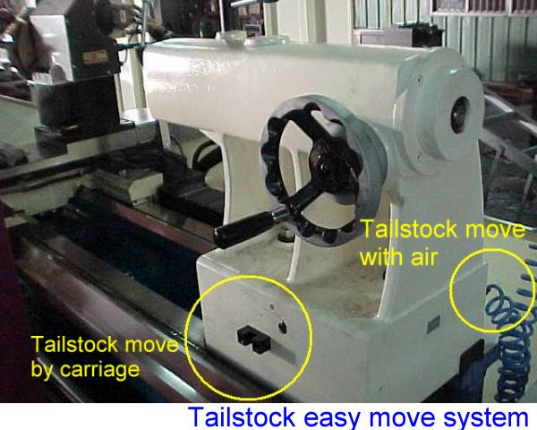 tailstock with air lift system