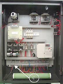 electronics panel on Cyclematic CTL-618 lathe