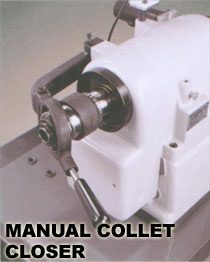 manual collet closer on the headstock of the cyclematic ct1118 cnc lathe