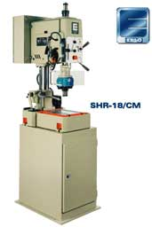 Erlo model SHR-18 bench drill press on cabinet base