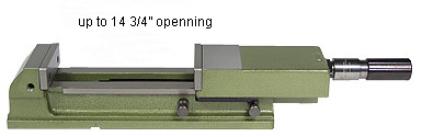 showing the maximum openning of the vices