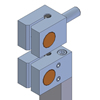 Grob guide holders for 3 piece sets for 5/8 to 1 inch blades