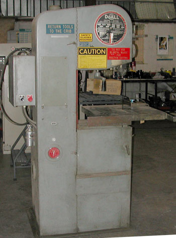 Used Do-All 1612 bandsaw