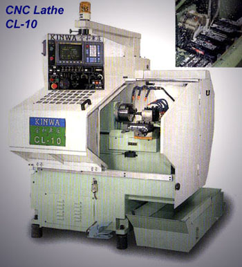 Chin Hung CL-10 CNC lathe with gang tooling