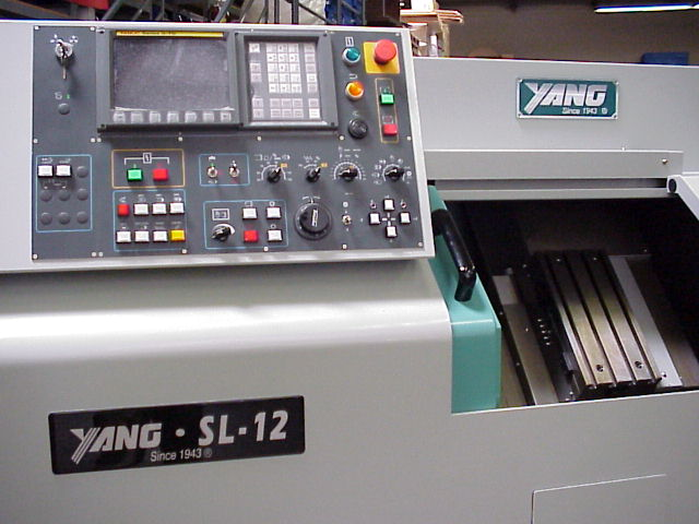 Yang SL-12 slant bed gang or turret tooling CNC lathe with Fanuc control