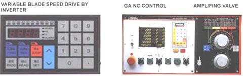 Showing the variable speed drive, CNC, and hydrualic amplifying valve control